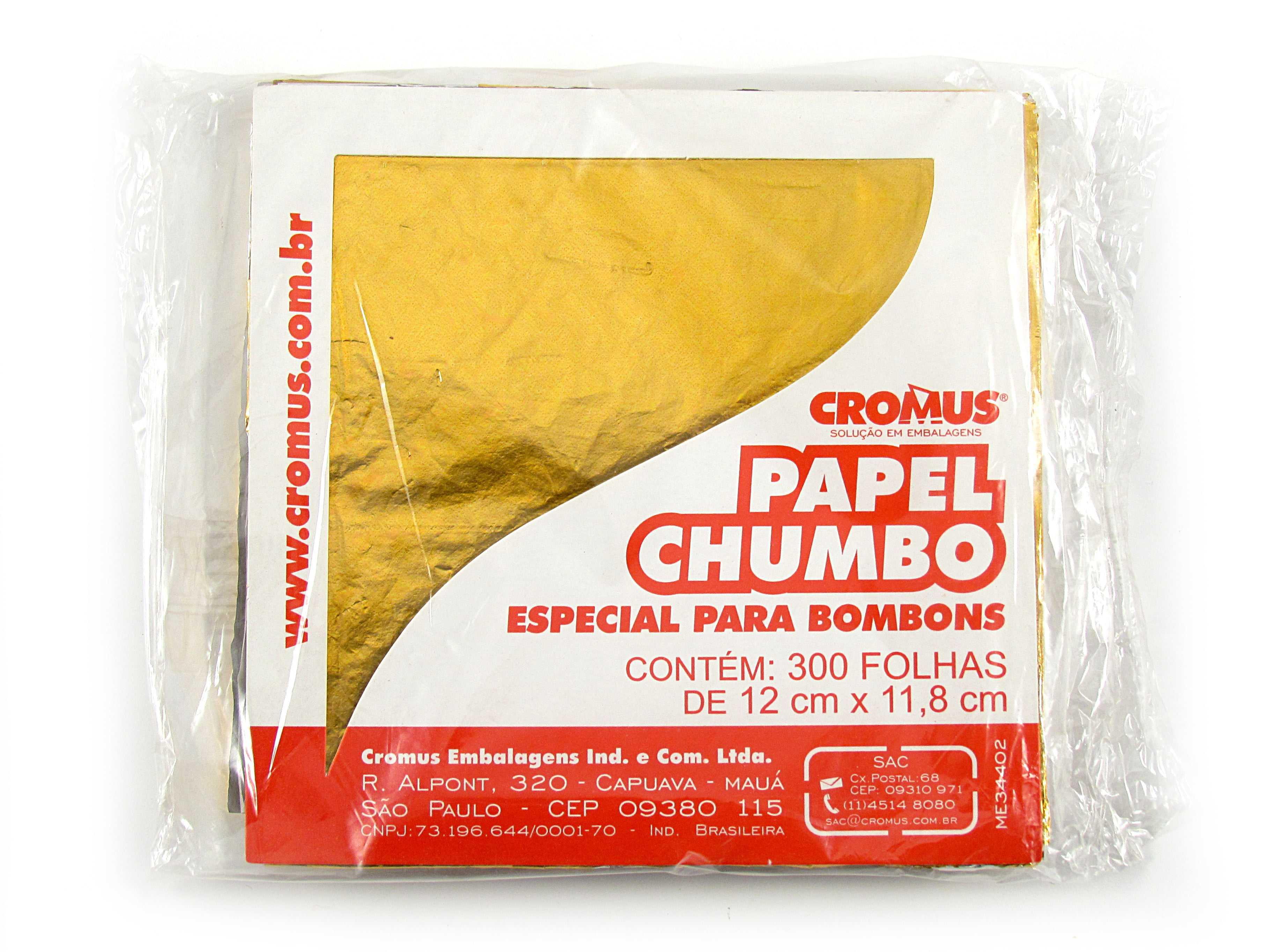 Papel Chumbo 12x11,8 cm Amarelo c/ 300 Folhas  Cromus