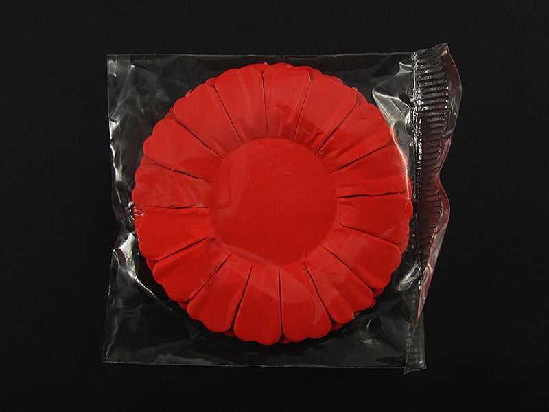 Forminha Margarida de Papel Nº3 Vermelho c/50 Vipel