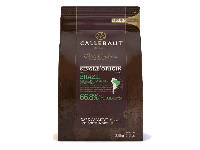 Chocolate Callebaut Amargo Brasil 66,8% 2,5KG