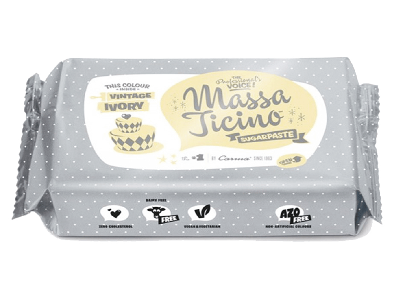 Pasta Americana - Massa Ticino Sugaspaste 250g - Bege