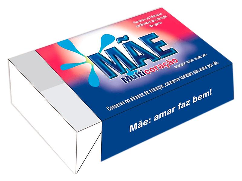 Caixa para 6 Doces 12x8x3,5 cm - Mãe Multicoração