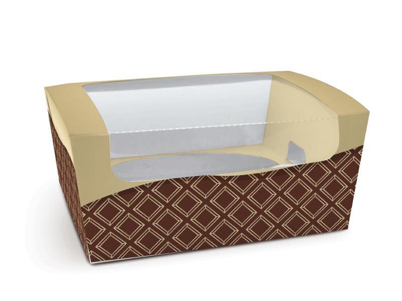 Caixa para Ovos de Colher 350g - Cacau Marron e Ouro - Cromus