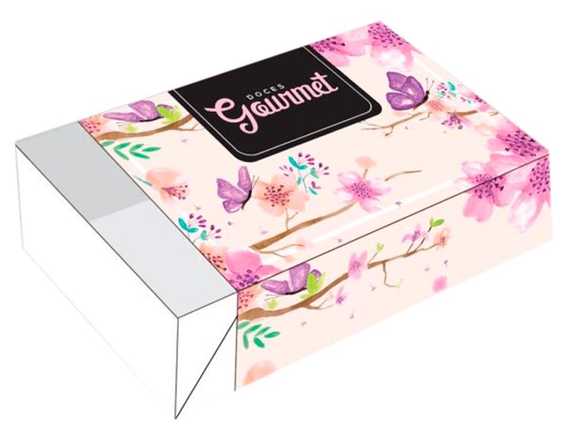 Caixa para 6 Doces 12x8x3,5 cm - Doces Gourmet