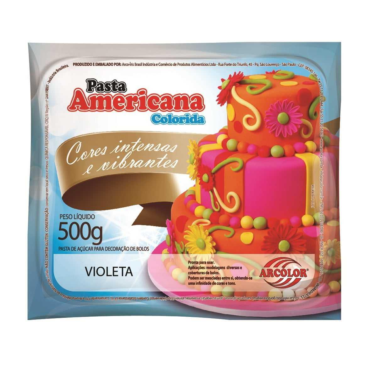 Pasta Americana 500g Violeta Arcolor