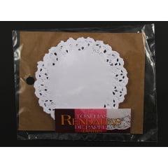Forro de Papel Rendado Redondo Branco 110 c/24 Mago