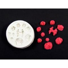 Molde de Silicone Enfeites Diversos Rosas e Laço S271 Gummies