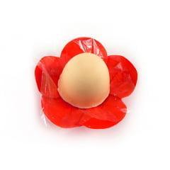 Forminha Margarida de Papel Vermelha c/50 Rosângela