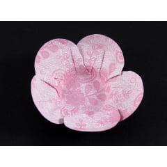 Forminha Margarida de Papel Rendada Rosa c/ 50 Rosângela