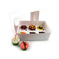 Caixa Color com Visor para 6 Cupcakes Agabox
