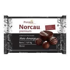 Cobertura Norcau Premium Chocolate Meio Amargo 1 kg