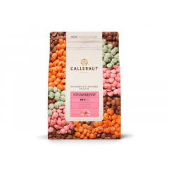 Callets Callebaut Chocolate Branco/Morango Callets 2,5kg