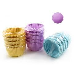 Forminha de Papel Impermeável para Cupcake Lilás N0 c/75 Flopel