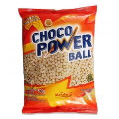 Cereal com Cobertura  Chocolate Branco 500gramas Chocopower Ball