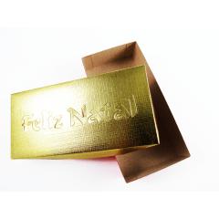 Caixa Color Ouro com Visor Feliz Natal Csr