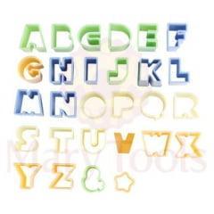 Cortador Alfabeto de Plástico C/28 Peças Mary Tools