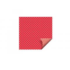 Papel Dupla Face 69x89 c/ 5 Mini  Xadrez Vermelho - Cromus