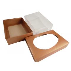 Caixa para Ovo de Páscoa de Colher 500g Ouro Fosco Csr