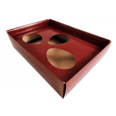 Caixa para Ovo de Páscoa de Colher 50g Marrom Csr