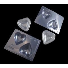 Forma Prática com Silicone Coração 200g N45 - Bwb