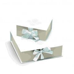 Caixa para Convite de Padrinhos Coleção Casamento Clássico Cromus