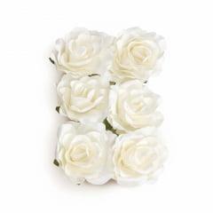 Flor de Papel Decorativa c/6 Coleção Casamento Cromus