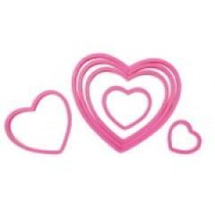 Cortador de Plástico Coração c/ 6 peças Celebrate