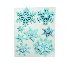Adesivo Decorativo Flocos de Neve Cromus