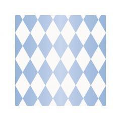 Papel Metalizado para Ovo de Páscoa 69x89 cm c/5 - Pierrot Azul - Cromus