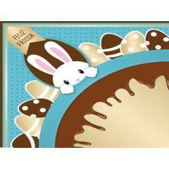 Embalagem Express para Ovo de Páscoa 35x35 cm c/5 – Chocopascoa - Azul - Cromus