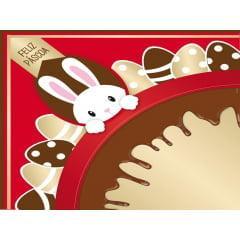 Embalagem Express para Ovo de Páscoa 35x35 cm c/5 – Chocopascoa – Vermelho - Cromus