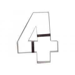 Aro Cortador Number Cake Número 4 – Caparroz