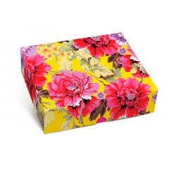 Caixa Retangular com Tampa - New Floral - Cromus