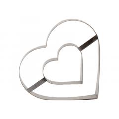 Aro Coração Duplo 30x5cm – Caparroz