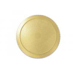 Disco Laminado para Bolos e Tortas Redondo 35cm – Ouro – Ultrafest