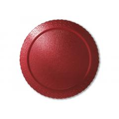 Disco Laminado para Bolos e Tortas Redondo 28cm – Vermelho – Ultrafest