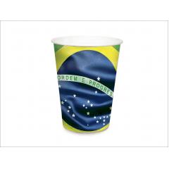 Copo Descartável Bandeira do Brasil 240ml c/8 unidades – Cromus