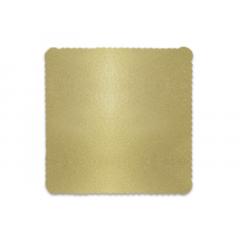 Disco Laminado para Bolos e Tortas Quadrado 32x32cm – Ouro – Ultrafest