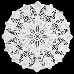Forro de Papel Rendado Redondo Branco 280 c/10 Mago