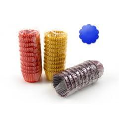 Forminha de Papel Impermeável N4 Azul c/100 Flopel