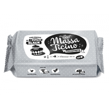 Pasta Americana - Massa Ticino Sugaspaste 250g - Preta