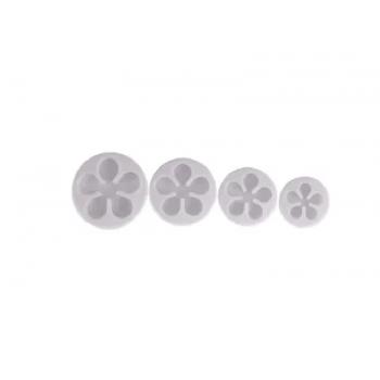 Cortador Plástico Miosótis c/ 4 Peças