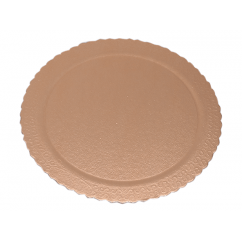 Disco Laminado para Bolos e Tortas Redondo 32cm – Ouro Rosê - Ultrafest