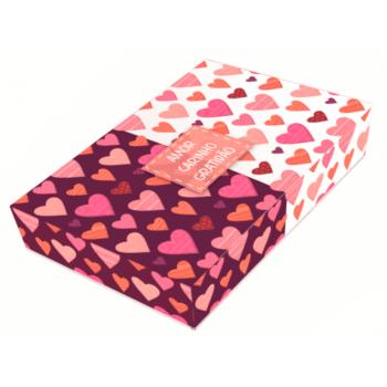 Caixa para Doces c/3 Unidades 20x13x4 cm - Amor/Carinho/Gratidão