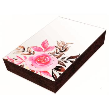 Caixa para Doces c/3 Unidades 20x13x4 cm - Flores