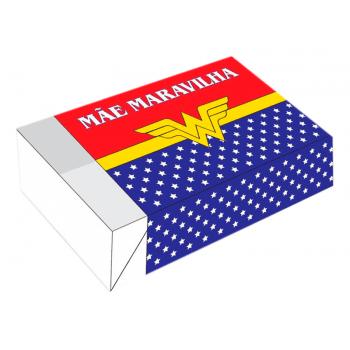Caixa para 6 Doces 12x8x3,5 cm - Mãe Maravilha
