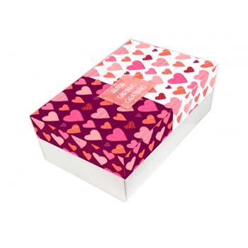Caixa para Doces c/2 Unidades 20x13x7 cm - Amor/Carinho/Gratidão