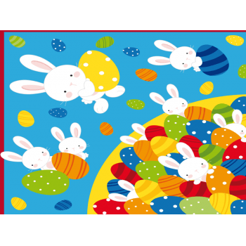 Embalagem Express para Ovo de Páscoa 32x32 cm c/5 – Piscina de Ovos Azul – Cromus