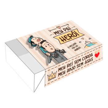 Caixa para 6 Doces Dia dos Pais 12x8x3,5 cm – Pai de Menino