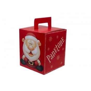 Caixa para Panetone 500g Vermelha- Decora Doces