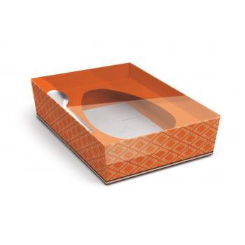Caixa para Ovo de Colher 350g – Cacau Laranja - Cromus